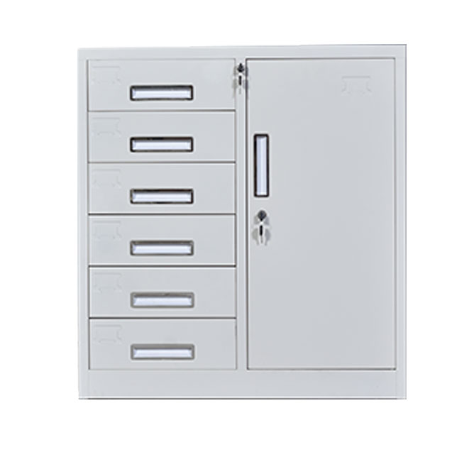 Cabinet with 1 Door and 6 Drawers (W-P-6D)
